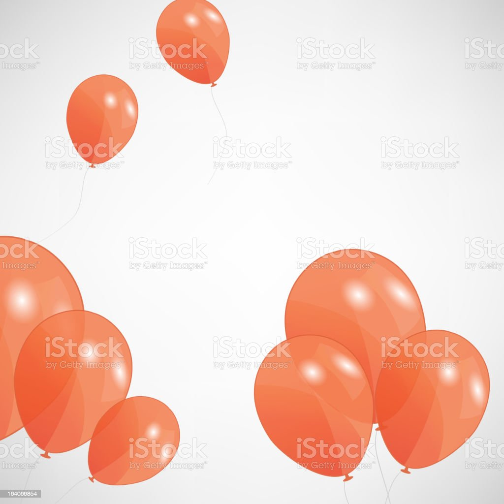 set of colored balloons, vector illustration. EPS 10 royalty-free stock vector art