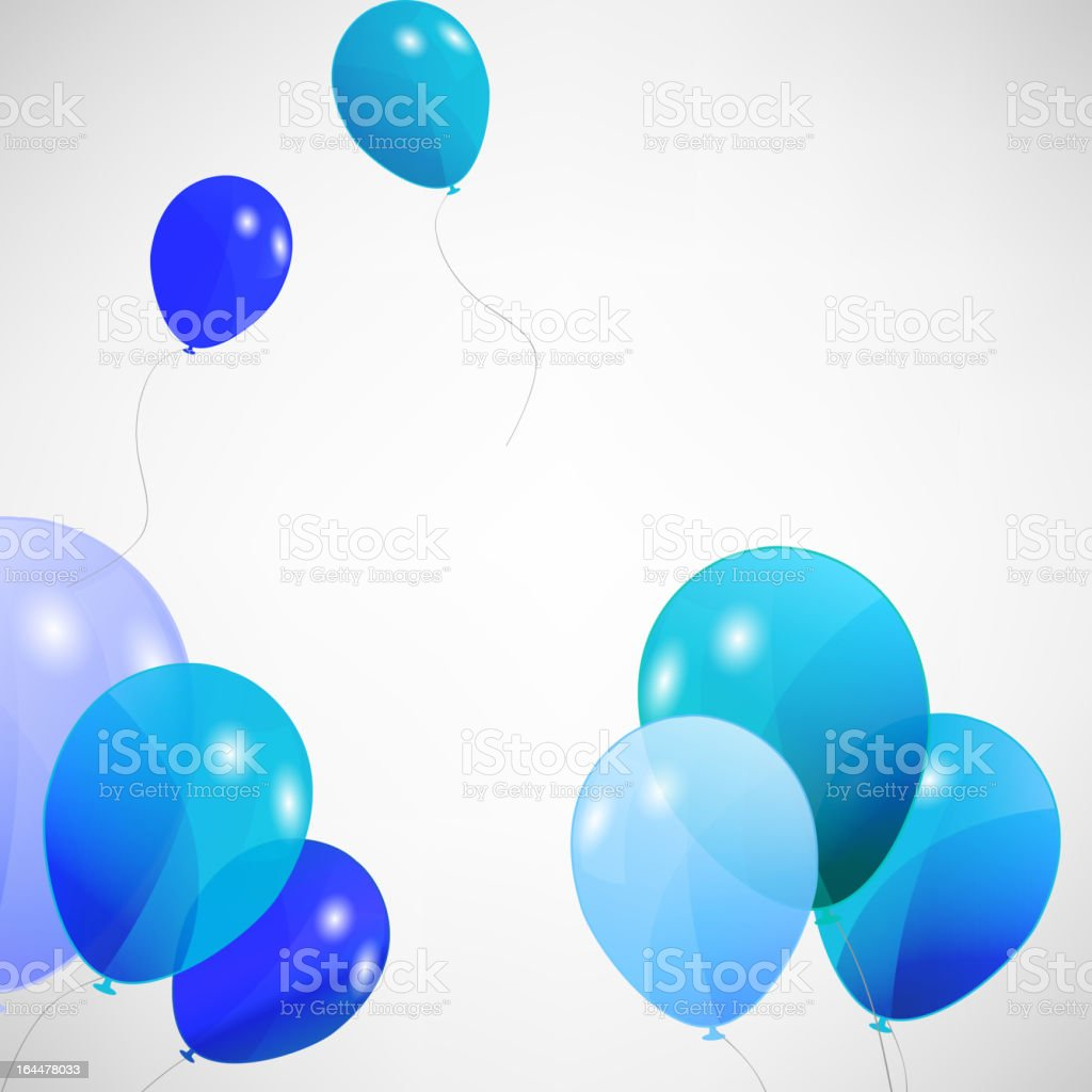 set of colored balloons, vector illustration. EPS 10 vector art illustration