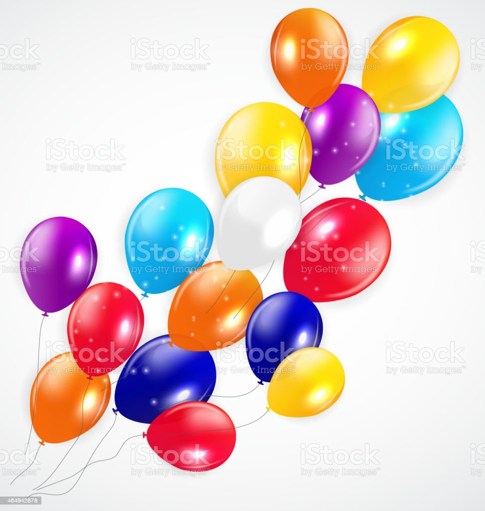 Set of Colored Balloons, Vector Illustration vector art illustration