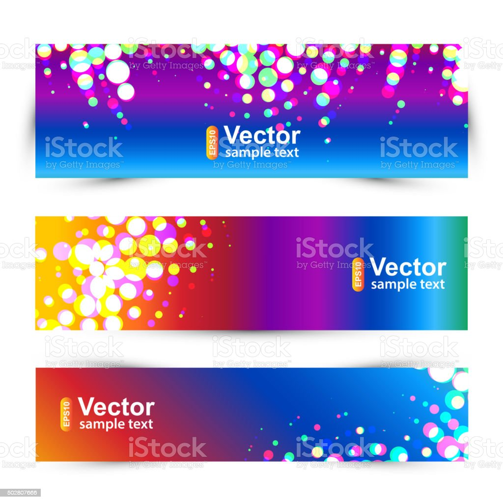 Set of colored banners, vector vector art illustration