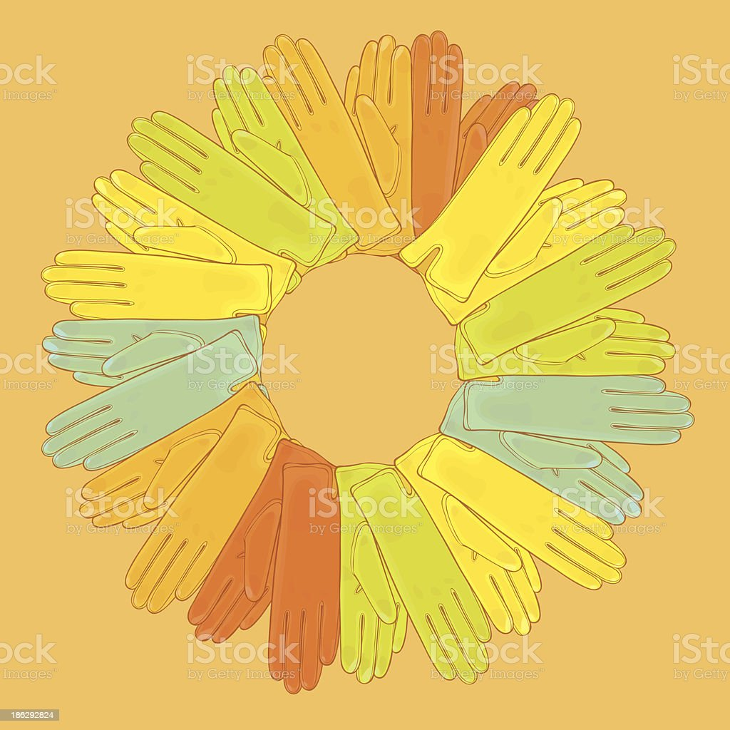 Set of colored gloves royalty-free set of colored gloves stock vector art & more images of autumn