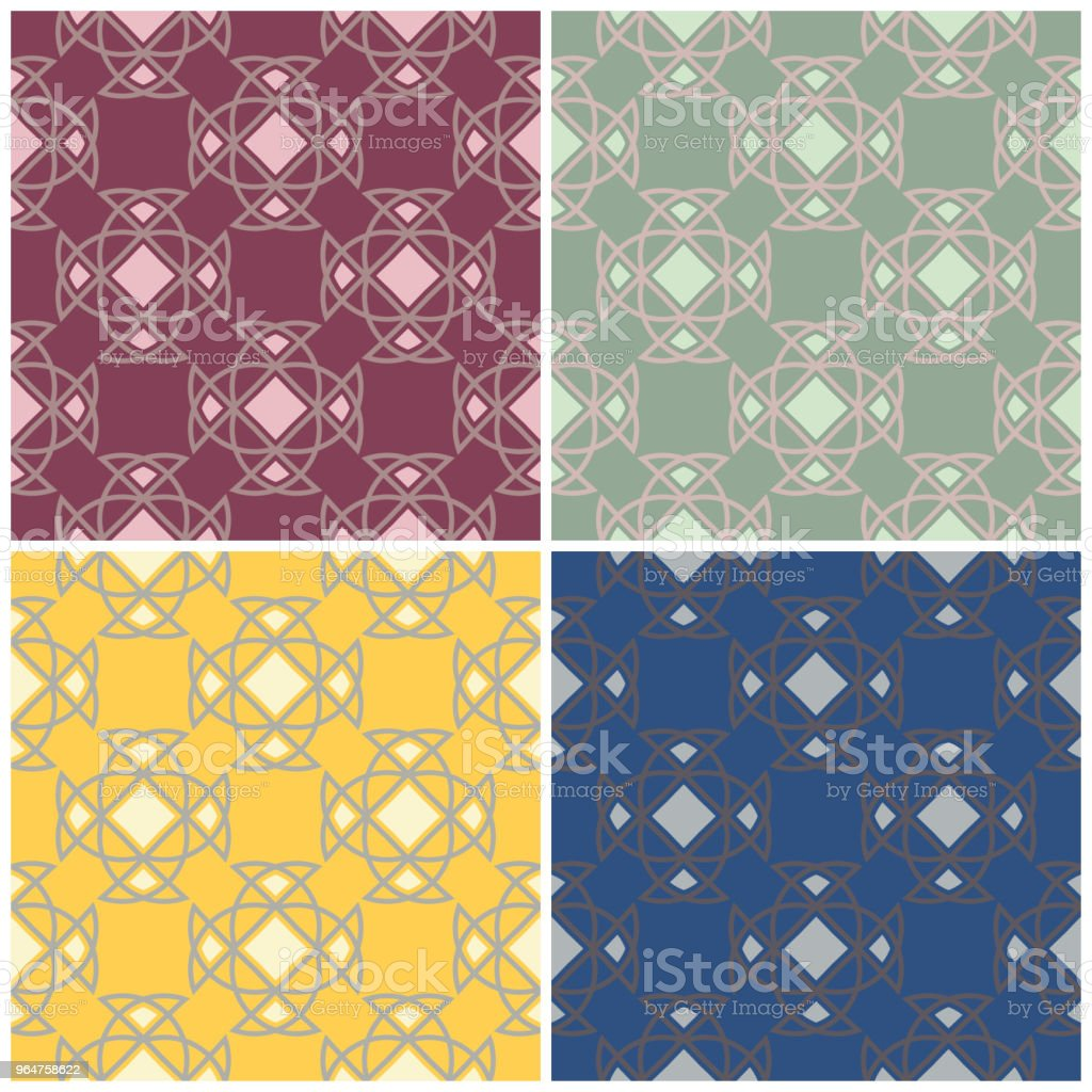 Set of colored seamless backgrounds with geometric patterns royalty-free set of colored seamless backgrounds with geometric patterns stock vector art & more images of abstract