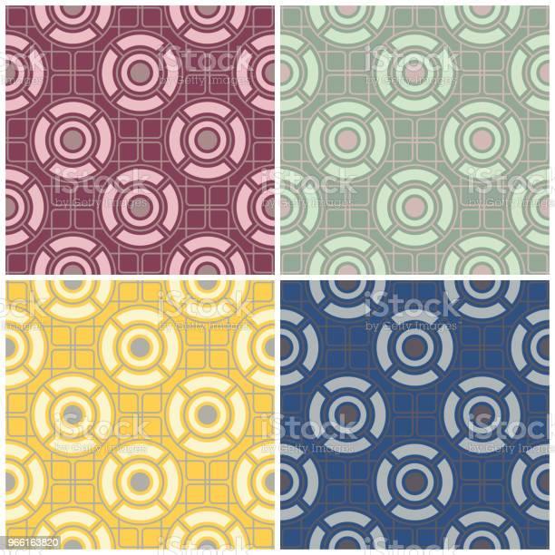 Set Di Sfondi Colorati Senza Cuciture Con Motivi Geometrici - Immagini vettoriali stock e altre immagini di Astratto