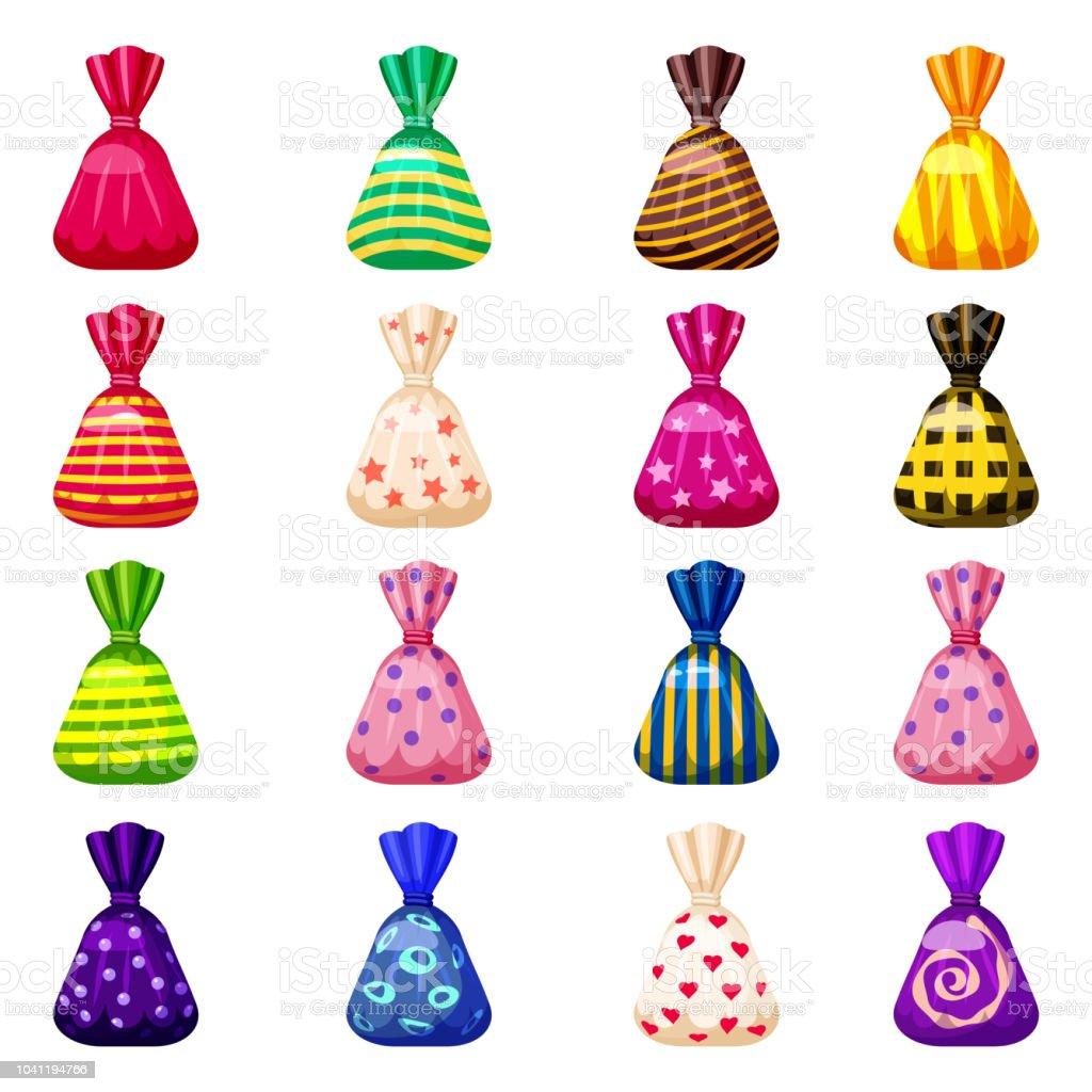 様々 な明るい色の明るいお祝いパッケージで色はお菓子のセットお菓子