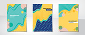 Set of colorful abstract creative design cover backgrounds A4 proportion