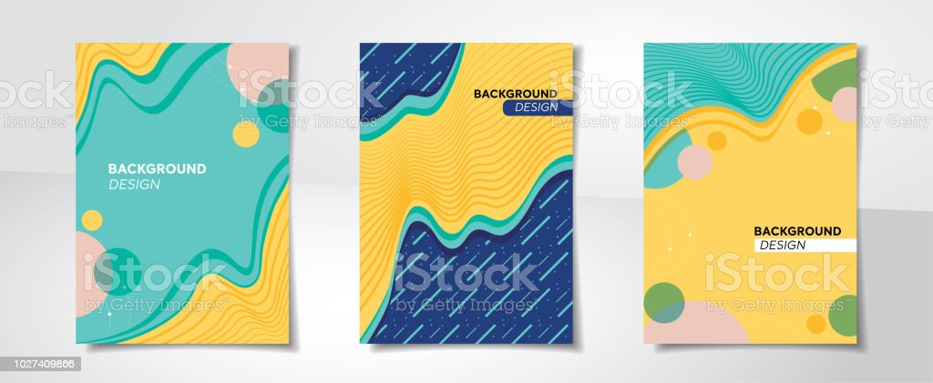 Set of colorful abstract creative design cover backgrounds vector art illustration