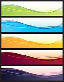Set of colorful abstract vector headers