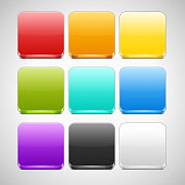 Set of Colorful App Icons Backgrounds