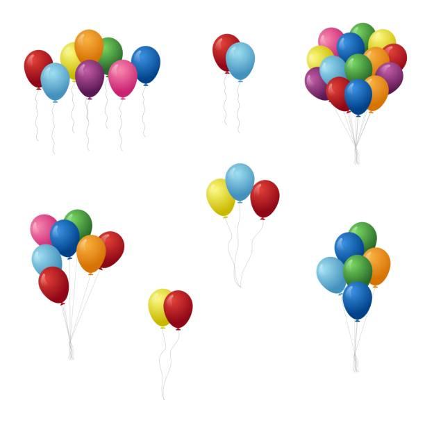 set von bunten luftballons vektordarstellung. - bund stock-grafiken, -clipart, -cartoons und -symbole