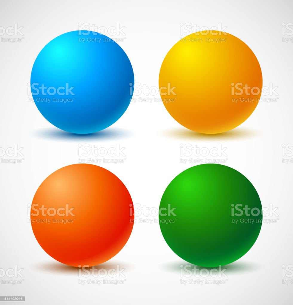 Set of colorful balls. vector art illustration