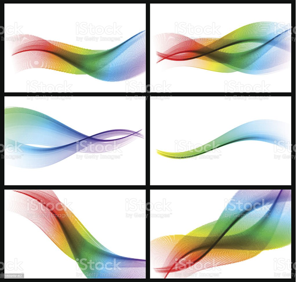 Set of colorful banner royalty-free stock vector art