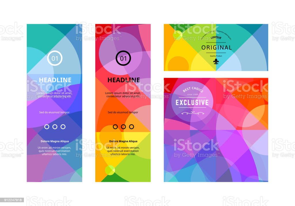 Set of Colorful Banners. Vector Background Design