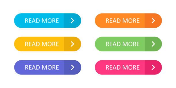 一套五顏六色的按鈕, 在白色背景上隔離圖示, 適用于平面樣式的網站和應用程式。 - 按鈕 幅插畫檔、美工圖案、卡通及圖標