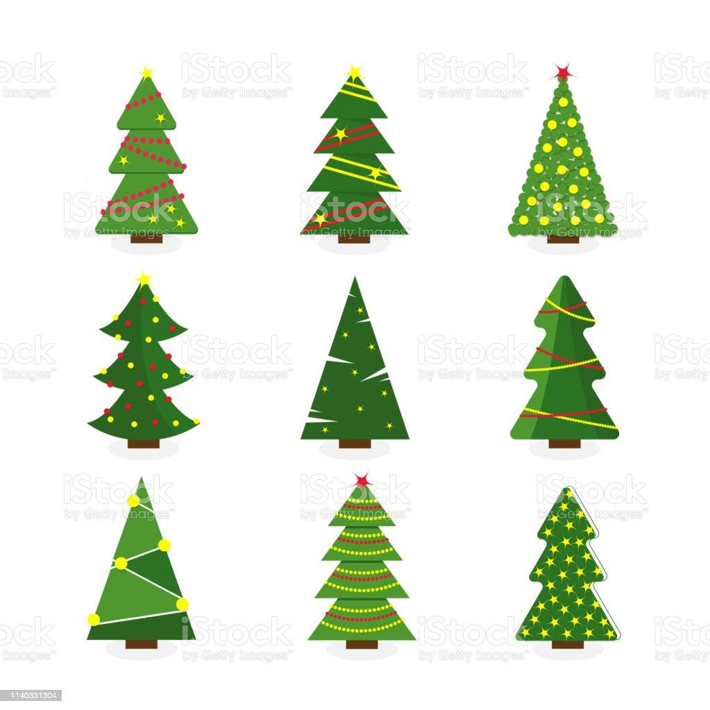 Vetores De Jogo Da Arvore De Natal Colorida Dos Desenhos Animados