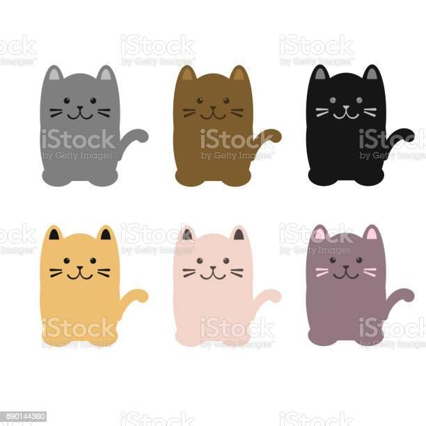 Set of colorful cats sitting vector illustration vector id890144360?b=1&k=6&m=890144360&s=612x612&h=8md9lzzacdv8tiyzlveycn xp5oxesz4gz4jlvazntg=
