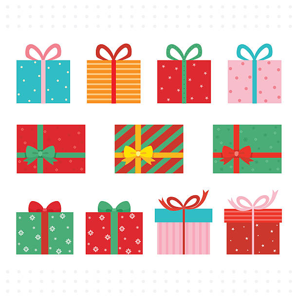 stockillustraties, clipart, cartoons en iconen met set of colorful gift boxes. - christmas present