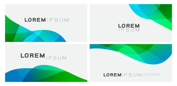 Set of colorful gradient curve element on white background with space. Trendy background for business or technology presentation. vector illustration vector art illustration