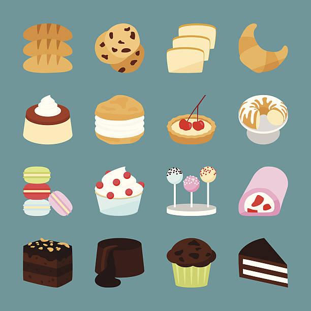 bäckerei symbole - vanillesauce stock-grafiken, -clipart, -cartoons und -symbole