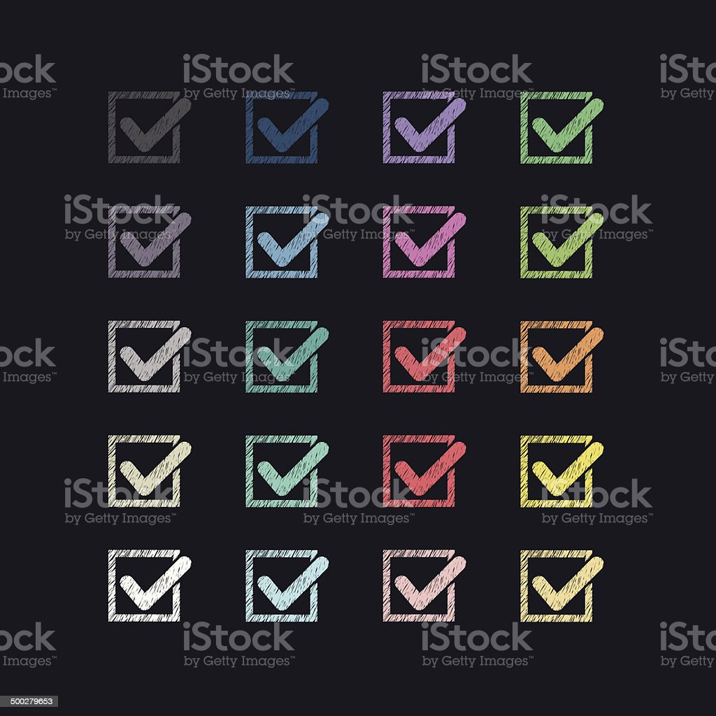 Set of colorful marks royalty-free stock vector art