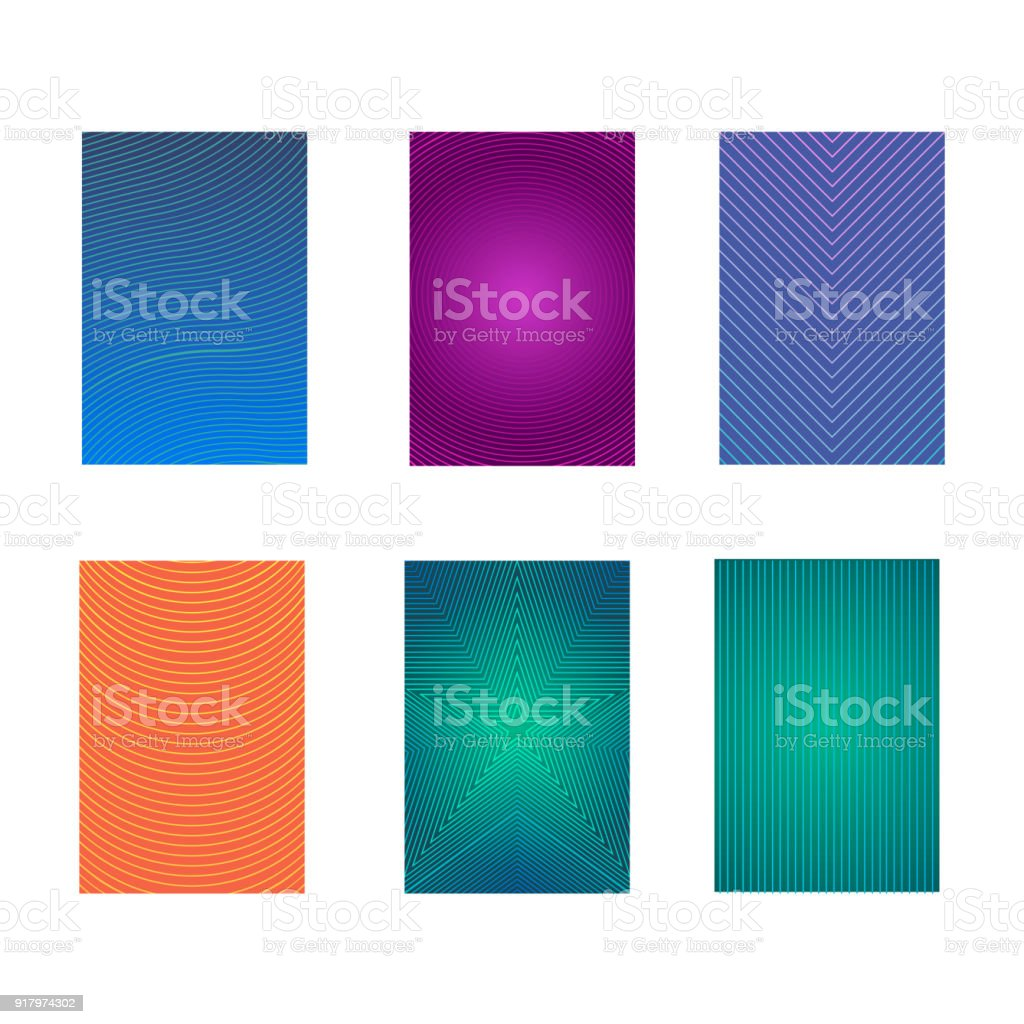 Set Of Colorful Minimal Design Brochure Book Covers Vector Stock ...