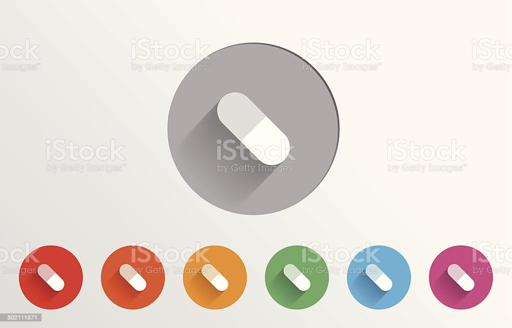 Set of colorful pill icons royalty-free stock vector art