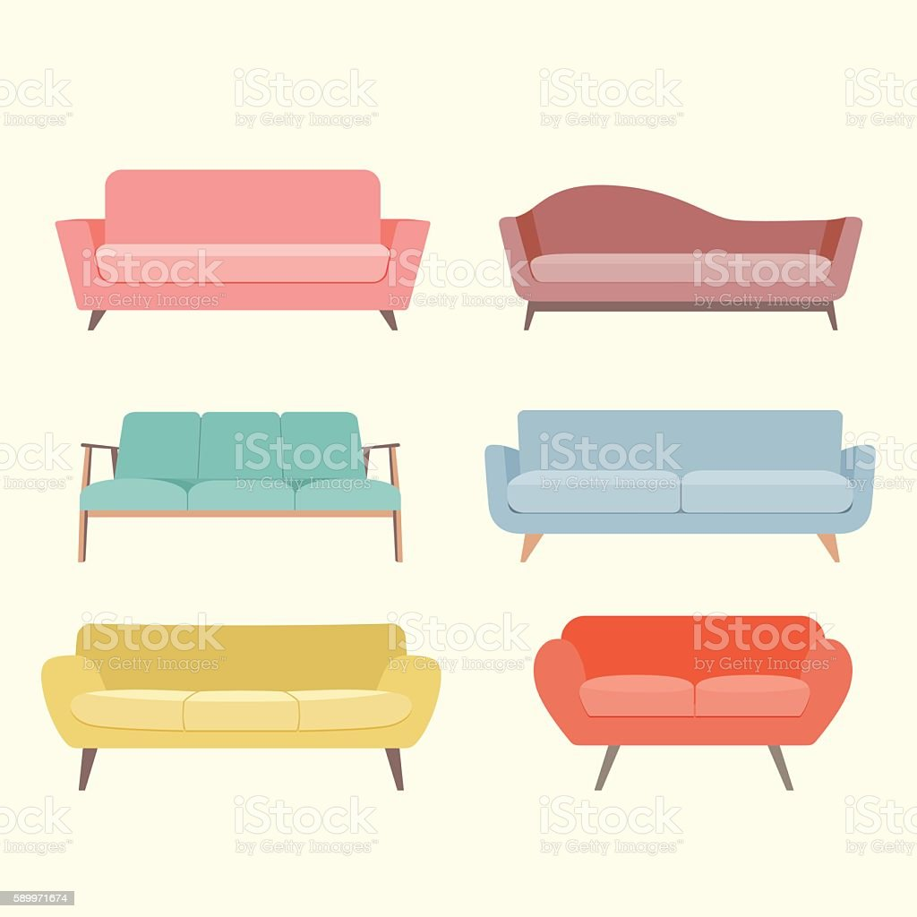Royalty Free Sofa Clip Art Vector Images Illustrations Istock