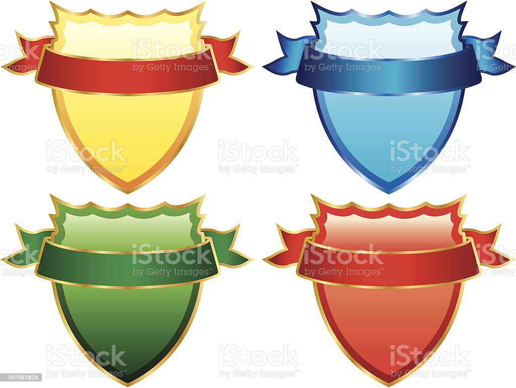 Set of colorful Shields royalty-free set of colorful shields stock vector art & more images of antique