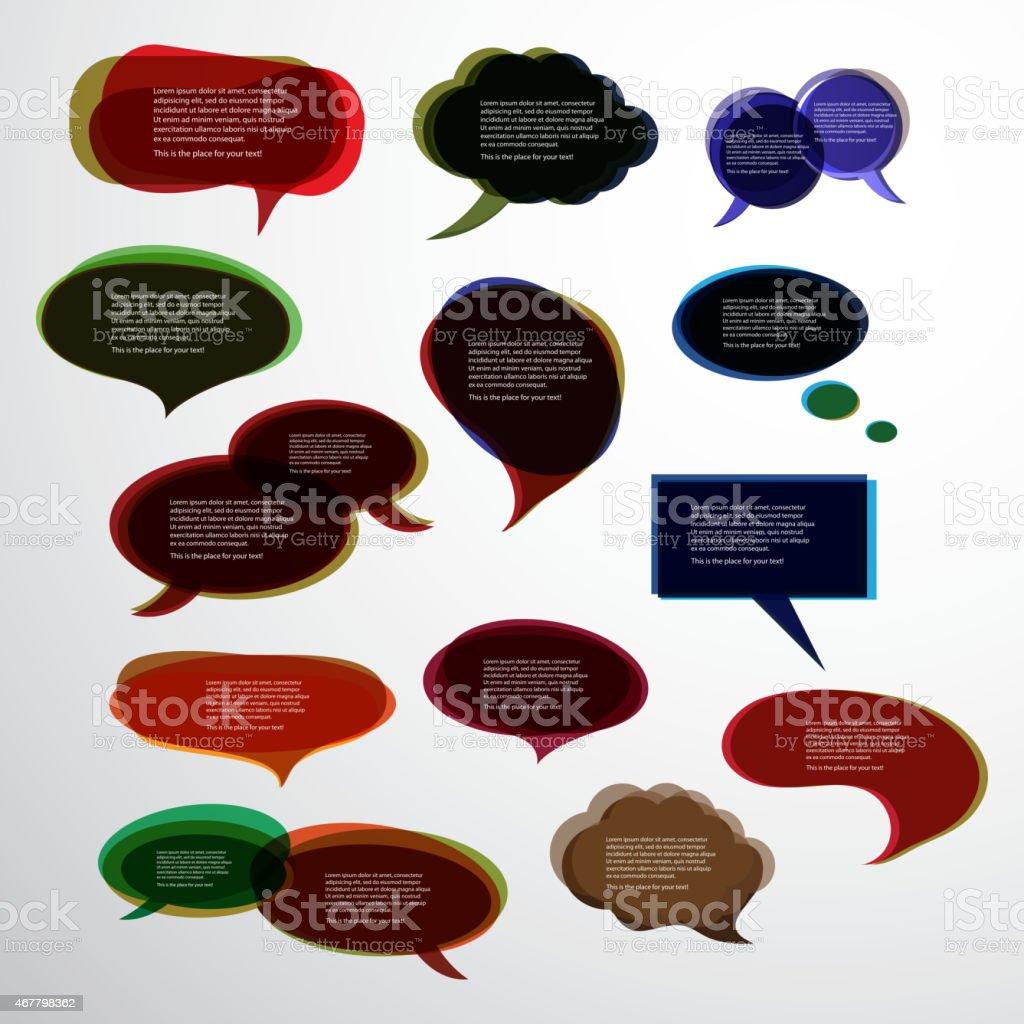 d28a324fd55 Set of Colorful Speech Bubbles Clip-Art royalty-free set of colorful speech  bubbles