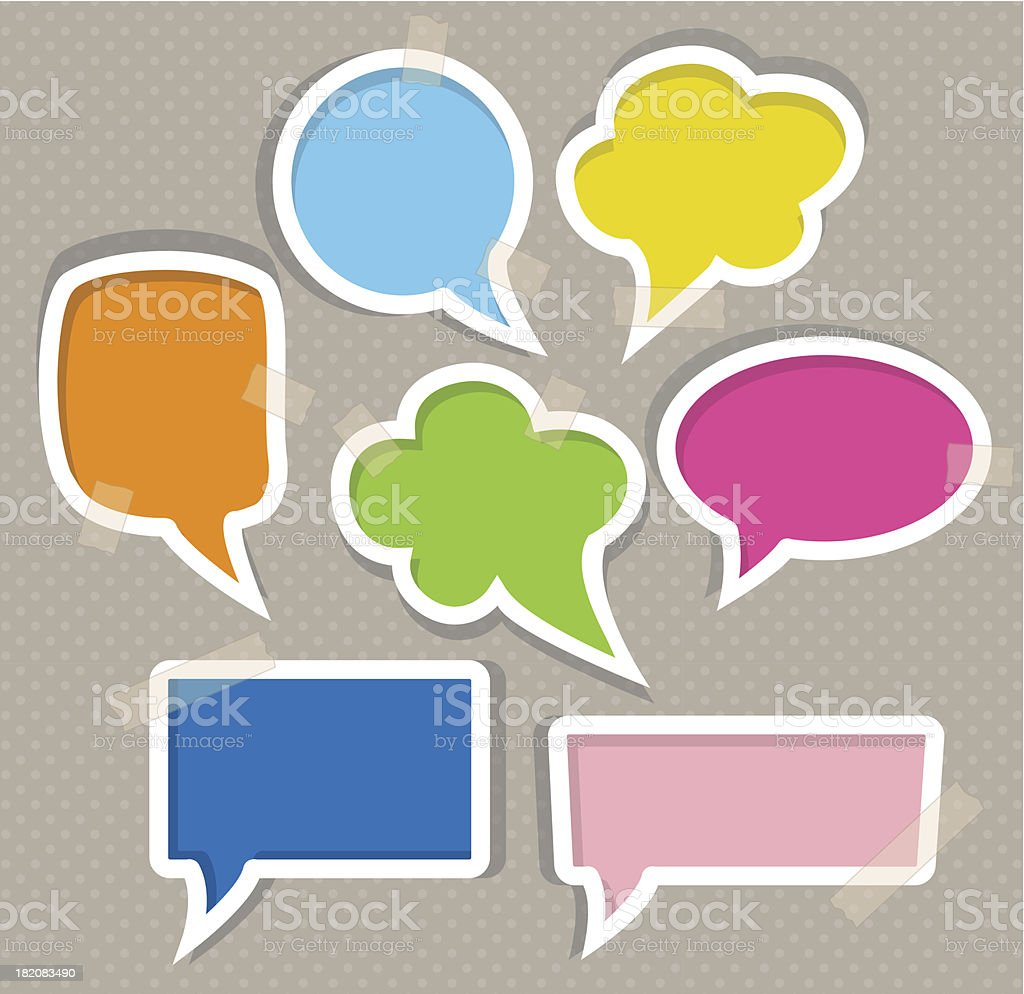 Set of colorful speech bubbles royalty-free set of colorful speech bubbles stock vector art & more images of announcement message
