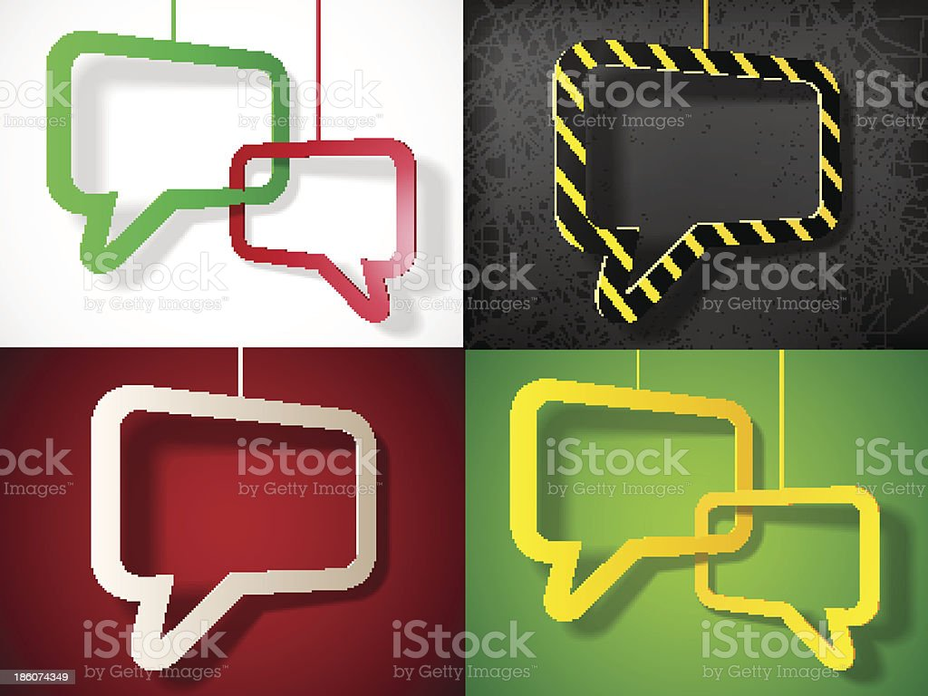 set of colorful speech bubbles royalty-free set of colorful speech bubbles stock vector art & more images of abstract