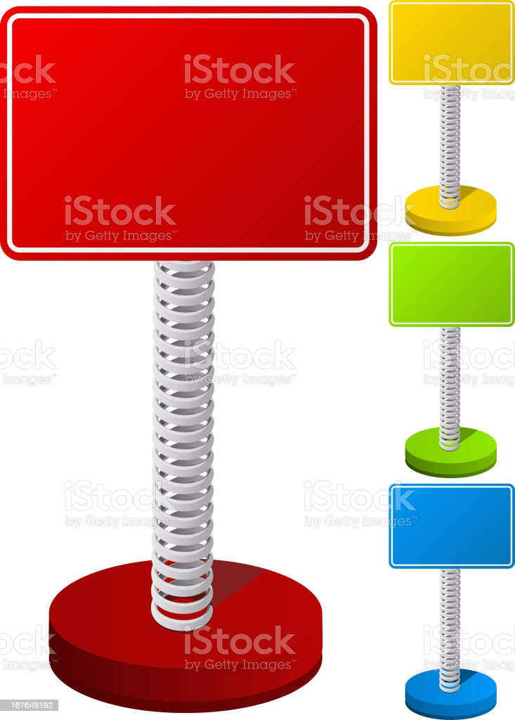 Set of Colorful Text Box on Metal Spring royalty-free set of colorful text box on metal spring stock vector art & more images of announcement message