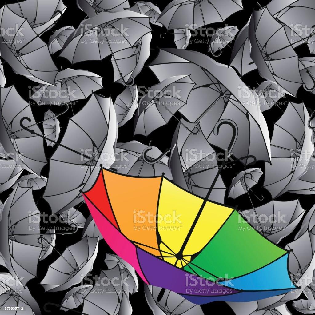 Ensemble de coloré de parasols ensemble de coloré de parasols – cliparts vectoriels et plus d'images de a la mode libre de droits