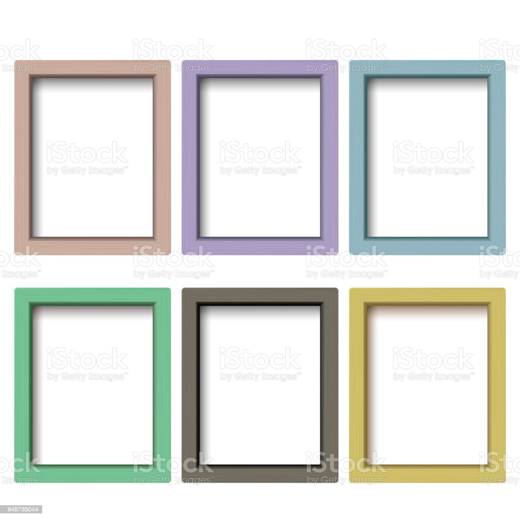 Set Of Colorful Wooden Frames Wooden Square Picture Frames Of ...