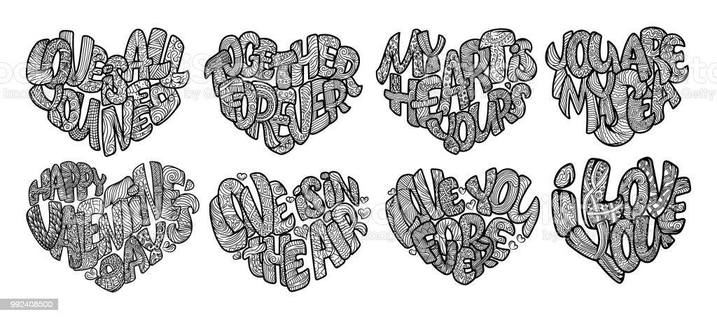 Ilustración de Juego De Colorear Para Adulto Doodle De Dibujo Diseño ...