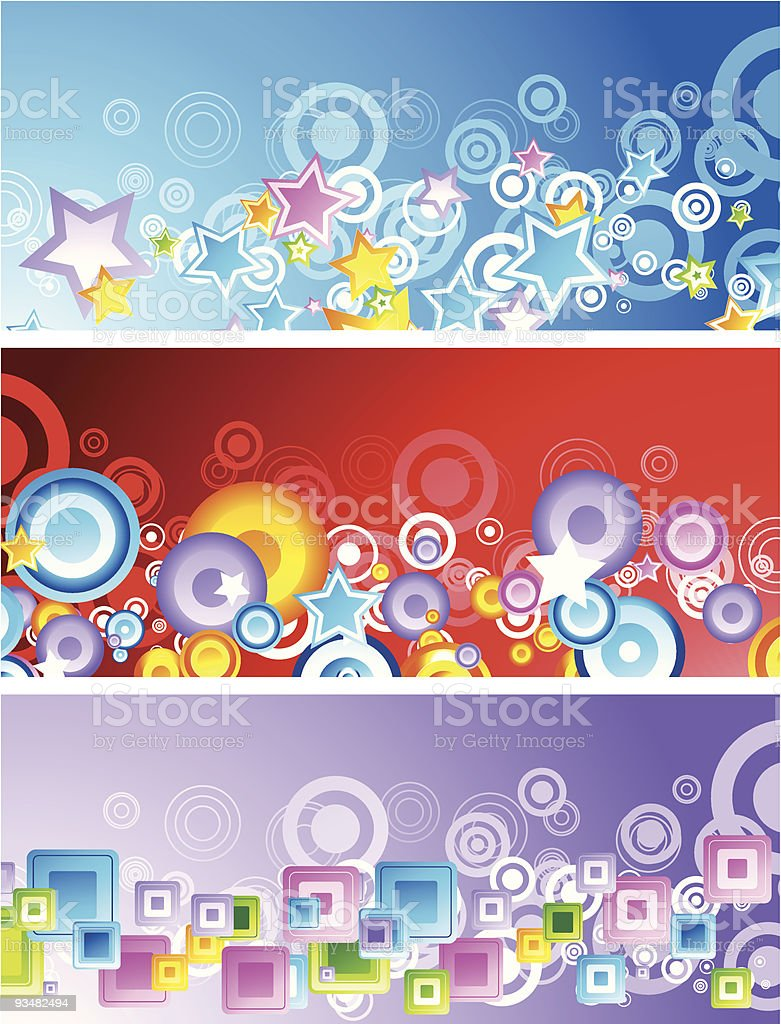 Set of colourful abstract banners royalty-free set of colourful abstract banners stock vector art & more images of abstract