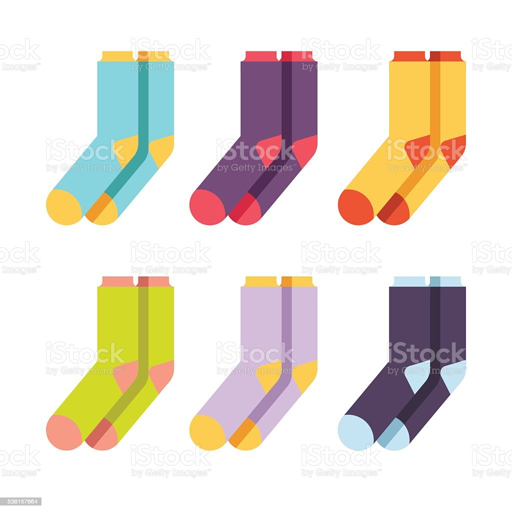 Set of colourful socks