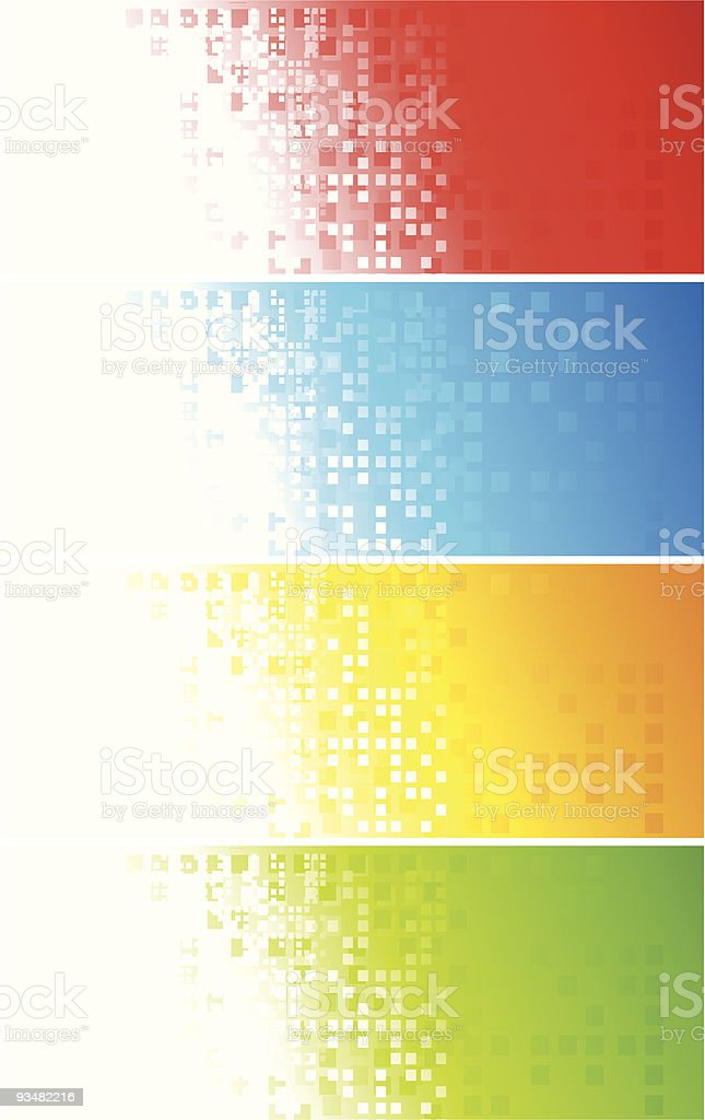 Set of colourful squares banners royalty-free stock vector art