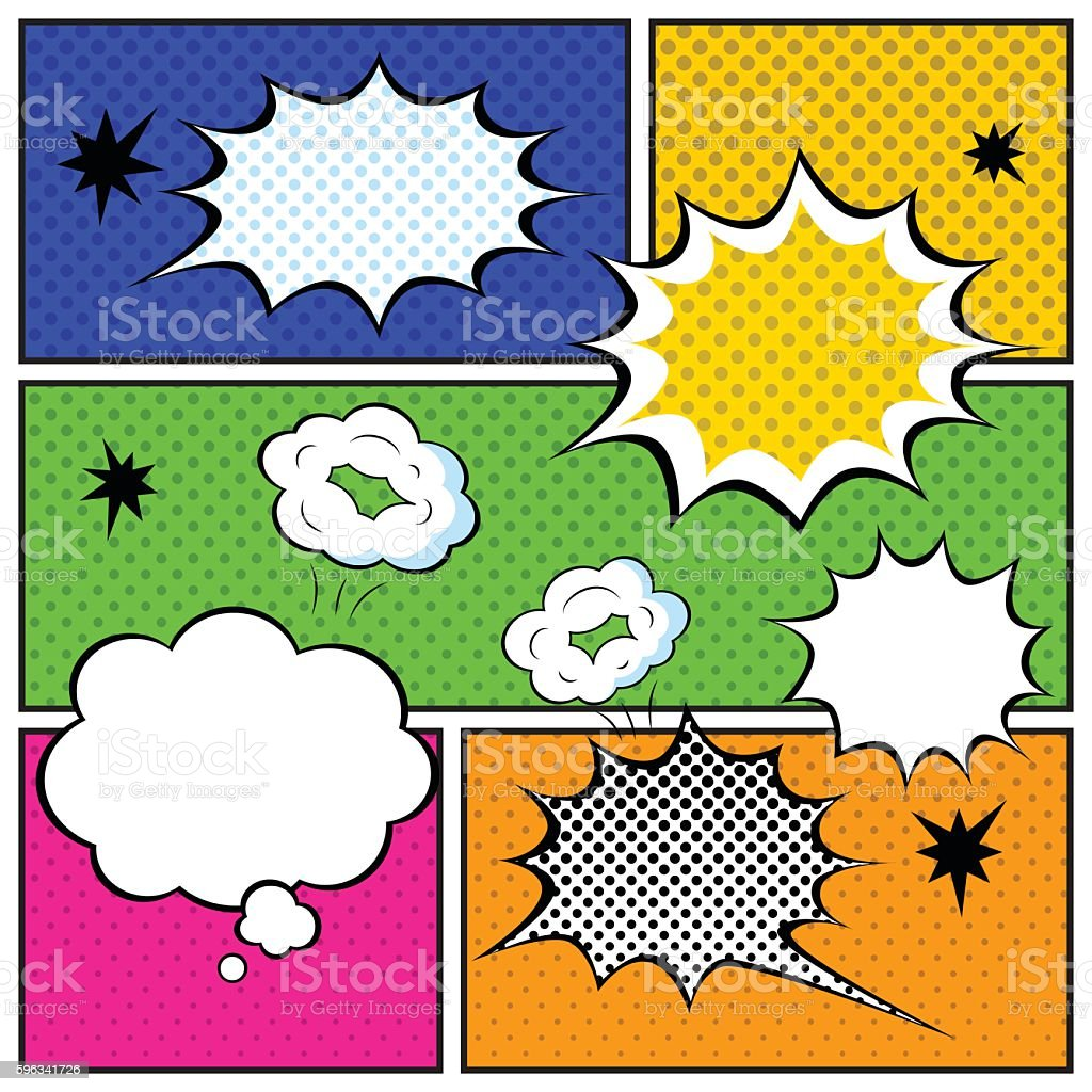 Set of Comic Bubbles in Pop Art Style. Vector illustration royalty-free set of comic bubbles in pop art style vector illustration stock vector art & more images of abstract