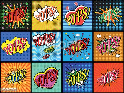 Free download of POW vintage comic book sound effect Vector