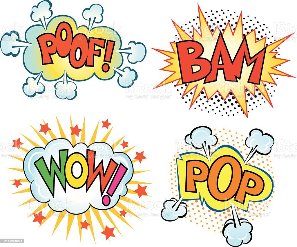 Set of Comics Sound Cartoons vector art illustration