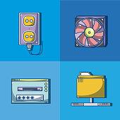 Set of computer hardware