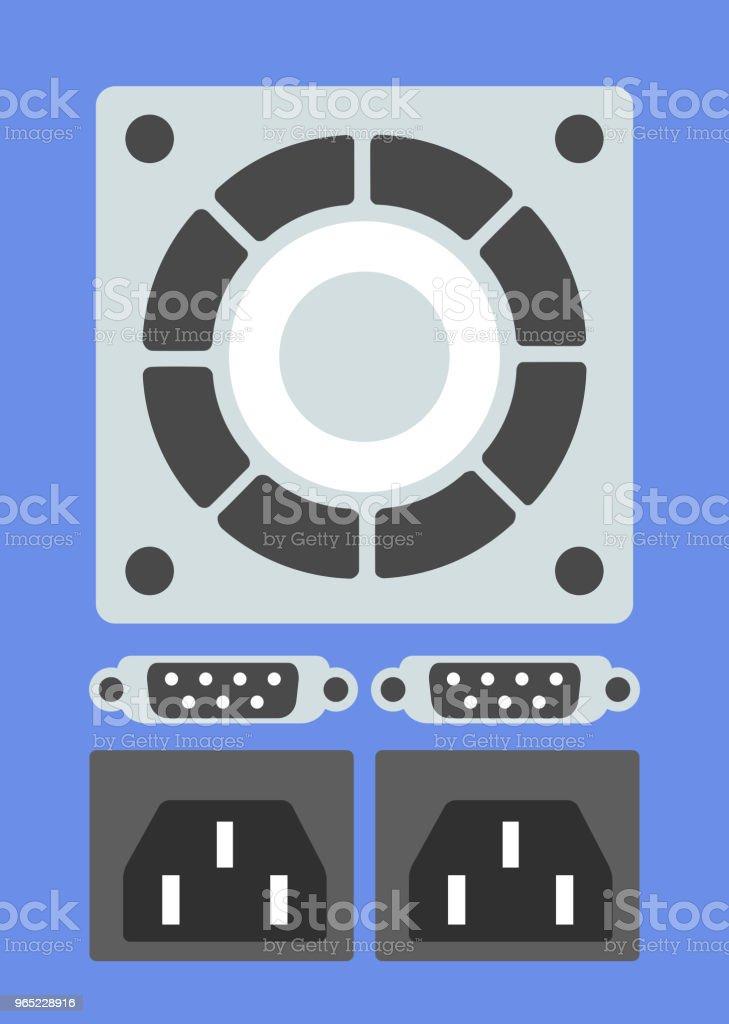 Set of computer parts set of computer parts - stockowe grafiki wektorowe i więcej obrazów bez ludzi royalty-free
