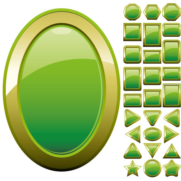 Set of computer web button icons, part 11 vector art illustration