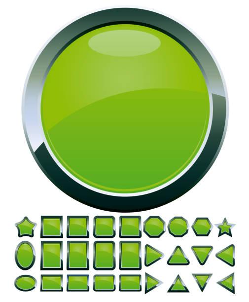 Set of computer web button icons, part 14 vector art illustration
