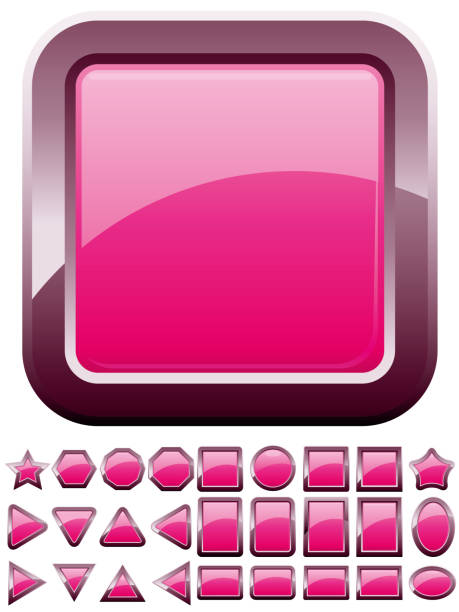 Set of computer web button icons, part 7 vector art illustration