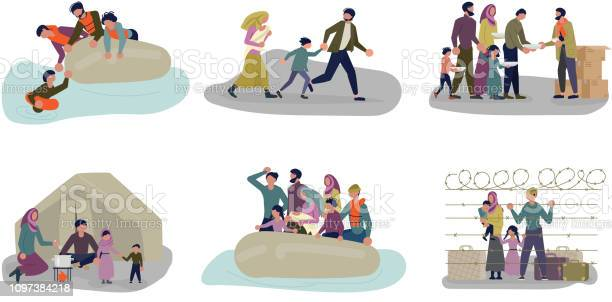 Set of concepts of migrant people in different situations vector id1097384218?b=1&k=6&m=1097384218&s=612x612&h=cygoq9og0c4pwqkojqgfic4xkf yivdi8taiicdidde=