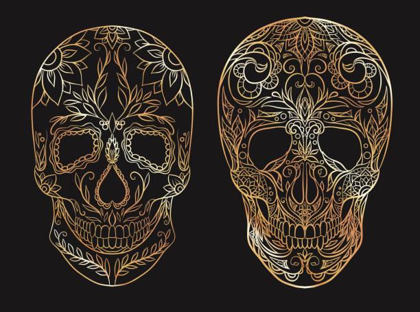 royalty free sugar skulls and roses drawings clip art vector images