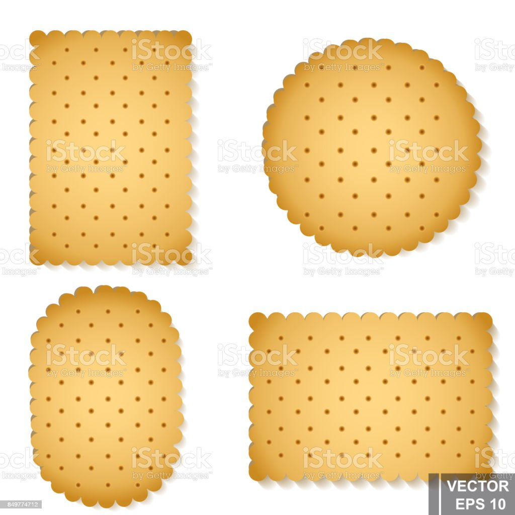 A set of cookies. Realistic. Delicious. Dessert. For your design. vector art illustration
