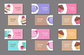 Set of corporate branding business card with cake