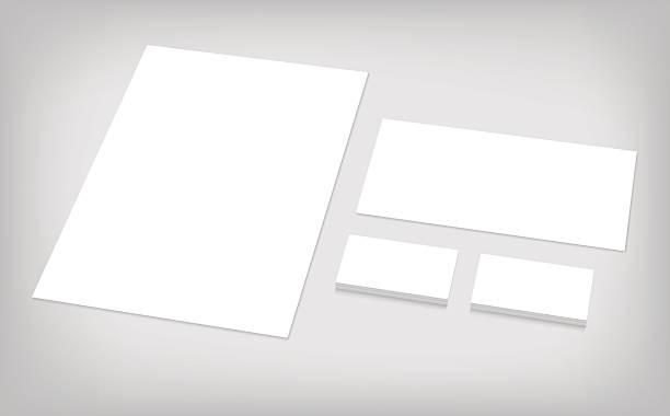 set of corporate identity template Business cards, letterhead, envelope. Stationary branding template for CI presentation. Set of corporate identity template. stationery templates stock illustrations